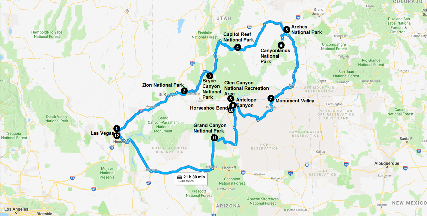 Wanderlust Travel & Photos - Epic National Parks Road Trips ...
